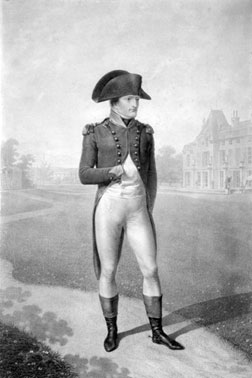 First Consul Bonaparte standing in front of Malmaison