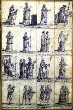 Pope Pius VII and clergymen