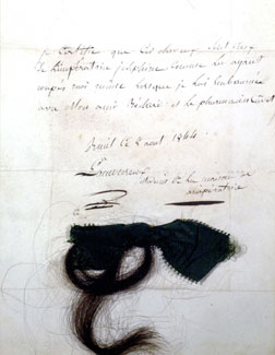 Lock of Empress Joséphine's hair