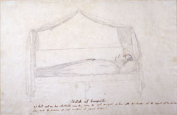 """Napoléon Laid Out on His Austerlitz Camp Bed"""