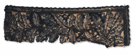 Fragment of cloak worn by Napol�on at the Battle of Marengo