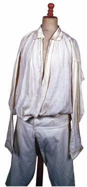 Napoléon's monogrammed shirt and longjohns worn on St. Helena