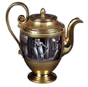 Teapot given by Empress Marie-Louise to Queen Hortense