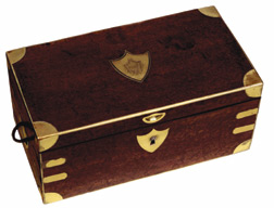 Napoléon's campaign teabox used on St. Helena