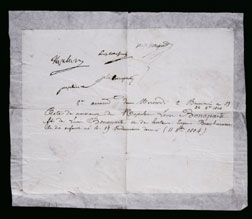 Birth certficate of Charles Napol�on